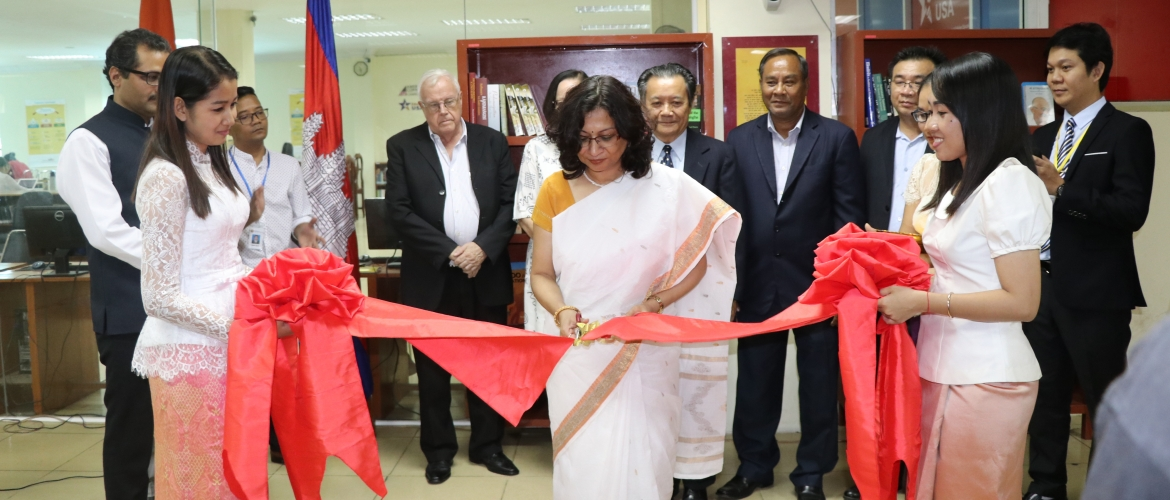 India Corner inaugurated by Ambassador at Pannassastra University