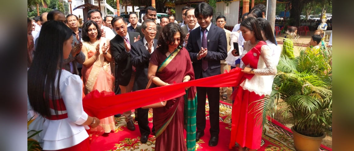 Ambassador Manika Jain presided over the handing over ceremony of water hand pumps