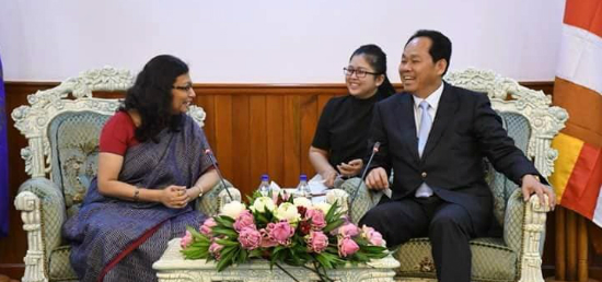 Ambassador Manika Jain called on Minister of Land Management, Urban Planning, and Construction