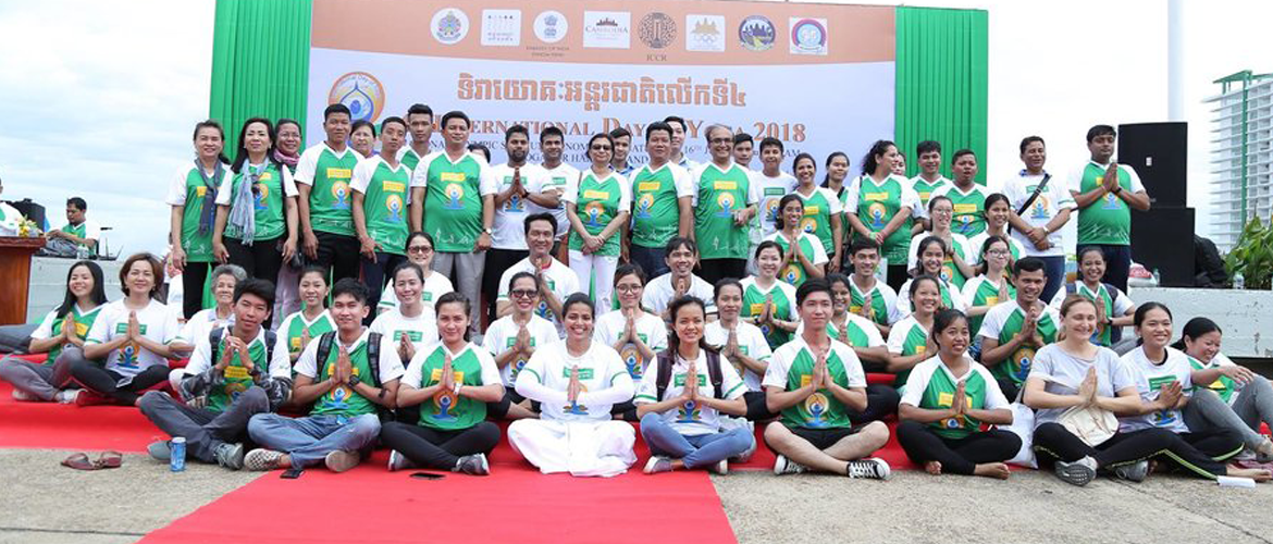 Celebration of 4th International Day of Yoga in Phnom Penh