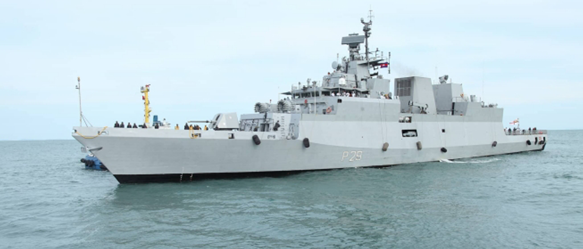 Goodwill Visit of Indian Naval Ship to Cambodia