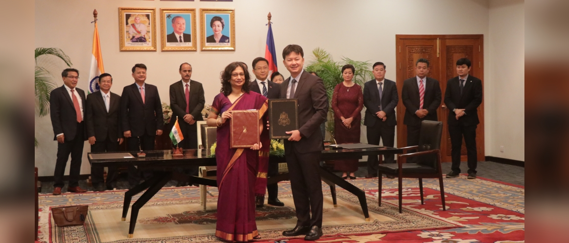 Signing Ceremony of 18 MOUs on  Quick Impact Project (QIP)