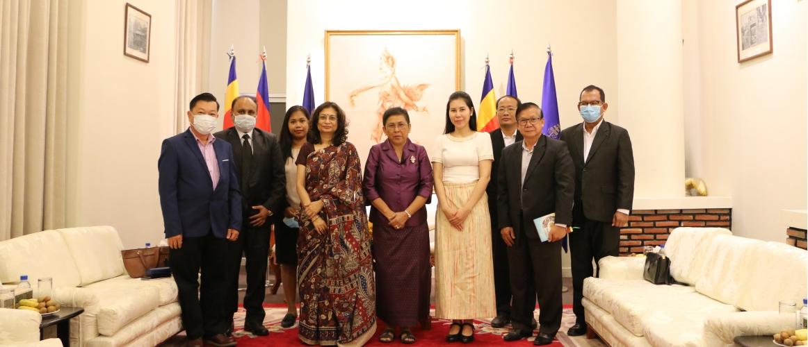 Ambassador Manika Jain made a farewell courtesy call to Cambodian Minister of Culture and Fine Arts