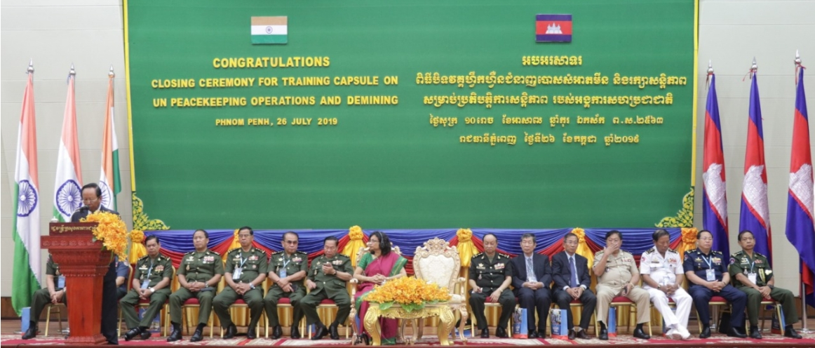 DPM Tea Banh and Ambassador Manika Jain Presided over the Closing Ceremony of Demining Training