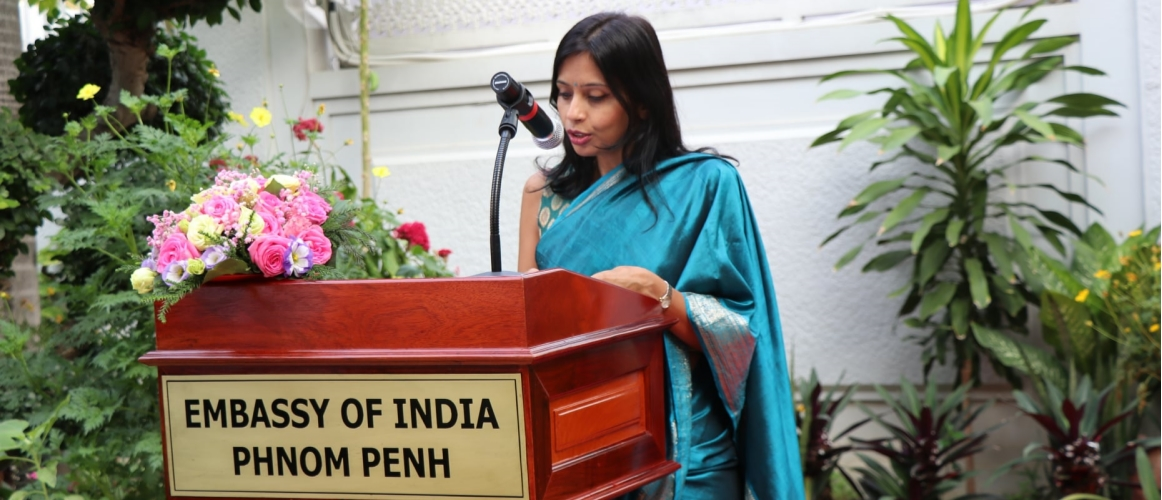 Embassy of India, Phnom Penh celebrated the 72nd Republic Day of India